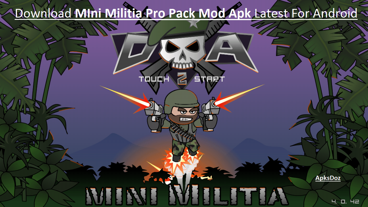 Doodle Army 2 Mini Militia Pro Pack Mod Apk Downloadunlimited